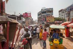 Crowded traffic, Varanasi Stock Photos