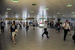 Crowded transportation hub Stock Photography