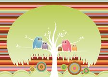 Crowded Tree vector illustration