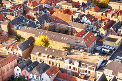 Crowded urban living - red roofs Royalty Free Stock Photography
