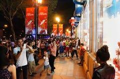 Crowded urban scene, Vietnam holiday Royalty Free Stock Image