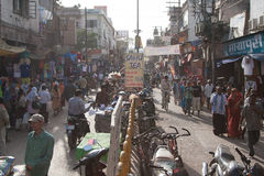 Crowded Varanasi. Holy city of Varanasi, Uttar Pradesh, India Stock Photos