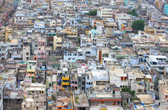 Crowded Vijayawada city Stock Images