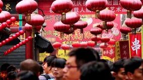 Crowded Wangfujing Snack Street in Beijing stock footage