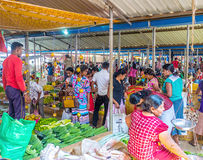The crowded Wellawaya market Royalty Free Stock Photography