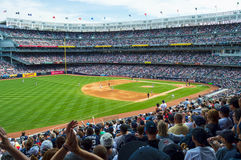 Crowded Yankee Stadium Royalty Free Stock Photos