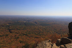 Crowders Mountain State Park. View from Backside Trail at Crowders Mountain State Park in North Carolina during the fall royalty free stock image