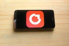 Crowdfire app stock afbeelding