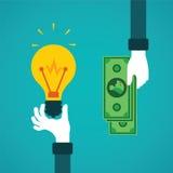 Crowdfunding或想法金钱传染媒介概念的在平的样式 库存例证