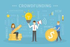 Crowdfunding概念例证 向量例证