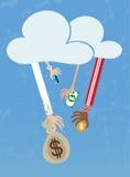 Crowdfunding από το σύννεφο Στοκ φωτογραφίες με δικαίωμα ελεύθερης χρήσης