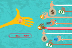 Crowdfunding στην ιδέα Στοκ Φωτογραφίες
