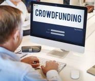 Crowdfunding货币业务企业图表概念 库存图片