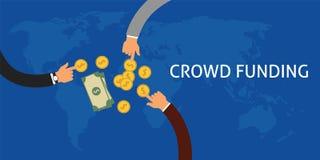 Crowdfunding Imagens de Stock