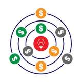Crowdfunding begreppsillustration Royaltyfri Bild