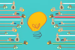 Crowdfunding and Business Investor concept. Stock Images