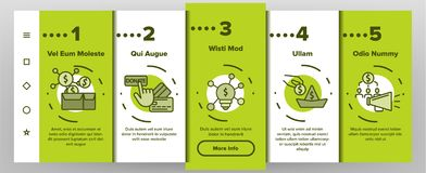 Crowdfunding, Collective Investment Vector Onboarding Mobile App Page Screen vector illustration