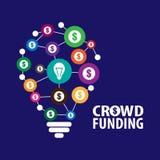 Crowdfunding concept illustration. Crowdfunding concept  illustration Royalty Free Stock Image
