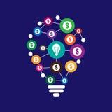 Crowdfunding concept illustration. Crowdfunding concept vector illustration Stock Images