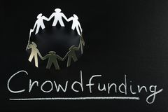 Crowdfunding concept Royalty Free Stock Images