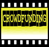 Crowdfunding Filmstrip Stock Images