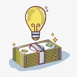 Crowdfunding finance company and economy support. Vector illustration Royalty Free Stock Image