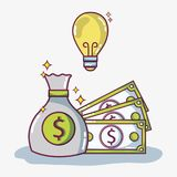 Crowdfunding finance company and economy support. Vector illustration Royalty Free Stock Photos