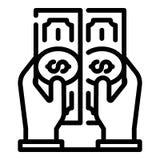 Crowdfunding-Geldikone, Entwurfsart lizenzfreie abbildung