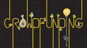 Crowdfunding i Biznesowy inwestora pojęcie Zdjęcie Royalty Free