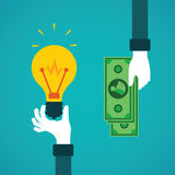 Crowdfunding or idea for money vector concept in flat style stock illustration