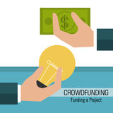 Crowdfunding ikony projekt ilustracja wektor