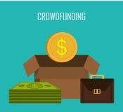 Crowdfunding ikony projekt royalty ilustracja