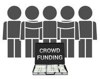 Crowdfunding illustration Arkivbild