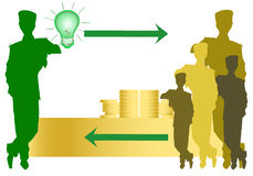 Crowdfunding, illustration for green sustainable economy Royalty Free Stock Photo