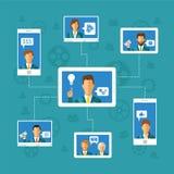Crowdfunding Konzept des Vektors Lizenzfreies Stockbild