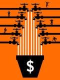 Crowdfunding-Leute Lizenzfreies Stockbild