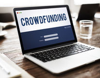 Crowdfunding Money Business Enterprise Graphic Concept. Crowdfunding Money Business Enterprise Graphic Stock Photography