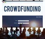Crowdfunding Money Business Enterprise Graphic Concept royalty free stock image