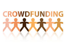 Crowdfunding Paper People Stock Image