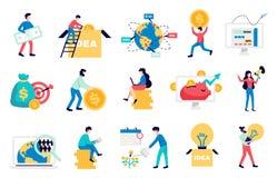 Crowdfunding plan symbolsupps?ttning royaltyfria foton