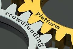 Crowdfunding platform concept Stock Photos