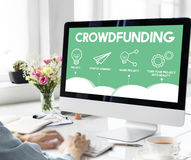Crowdfunding Project Plan Strategy Business Graphic Concept Stock Photo