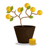 Crowdfunding savings concept icon. Illustration design Royalty Free Stock Photography