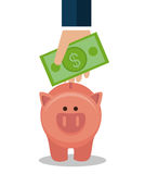 Crowdfunding savings concept icon. Illustration design Royalty Free Stock Photo