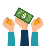 Crowdfunding savings concept icon. Illustration design Stock Photography