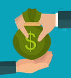 Crowdfunding savings concept icon. Illustration design Royalty Free Stock Image