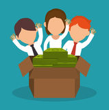 Crowdfunding savings concept icon. Illustration design Royalty Free Stock Images