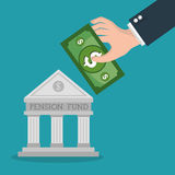 Crowdfunding savings concept icon. Illustration design Royalty Free Stock Photos