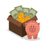 Crowdfunding savings concept icon. Illustration design Stock Photos