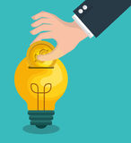 Crowdfunding savings concept icon. Illustration design Stock Images